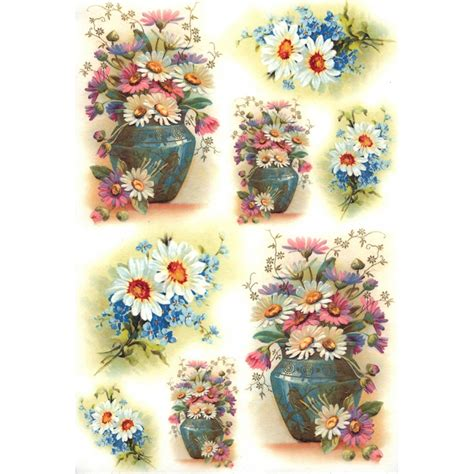 rice paper craft supplies springtime daisies and flowers rice paper decoupage sheet