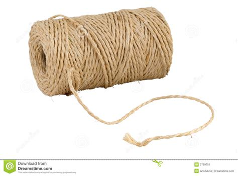a string roll of hemp string isolated on white stock image image