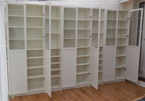 ikea bookcases with glass doors ikea white billy bookcases with white panel glass oxberg