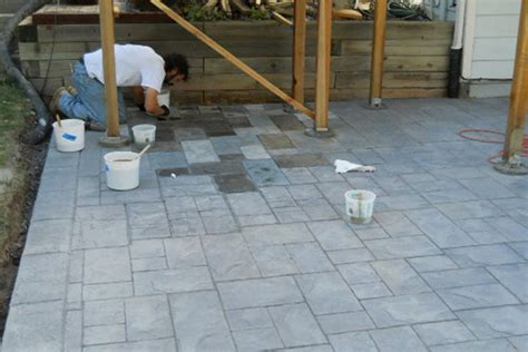 how to stain concrete patio yourself acid staining concrete patio patio design fabulous