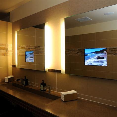 tv in mirror bathroom bathroom mirrors with built in tvs