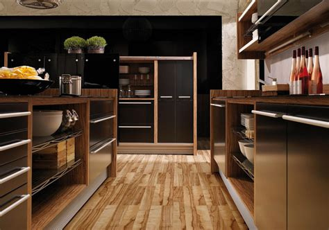 kitchen woodwork designs glossy lacquer with wood kitchen design vitrea