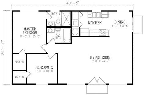 floor plan 1000 square foot house 40x25 looks house designs 2 bedroom house