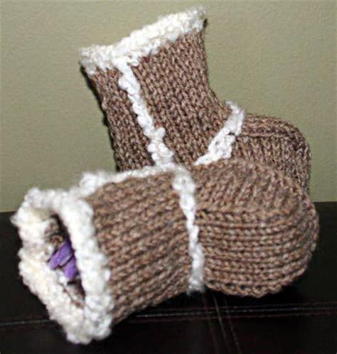 free baby boots knitting pattern free knitting pattern knitted baby uggs mesh model