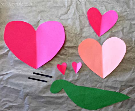construction paper valentines day crafts snail craft for project