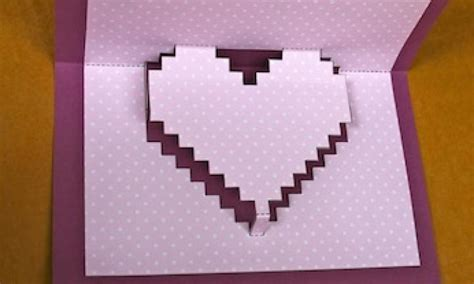 how to make something pop out of a card make a pixelated pop up card kidspot