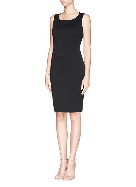 knit black dress st knit sheath dress in black lyst