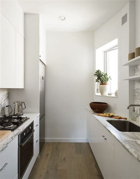 ideas for small galley kitchens small but smart minimalist kitchen design digsdigs