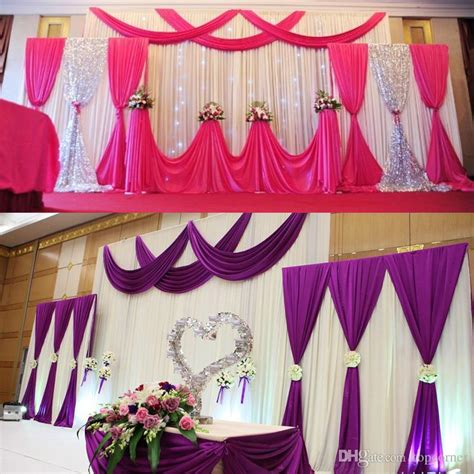 fabric decorations church anniversary stage decoration wedding