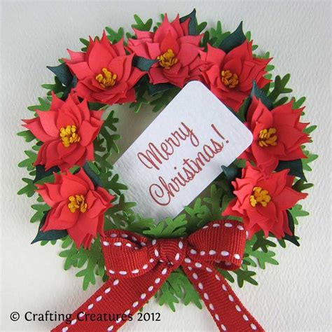 poinsettia craft projects you to see paper poinsettia and wreath by cecelia louie