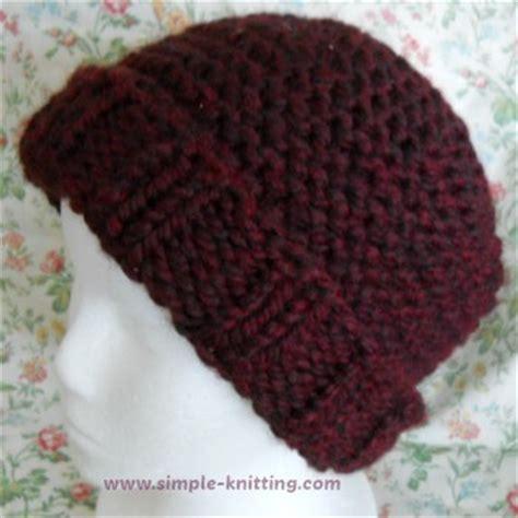 beginner knit hat pattern needles easy knit hat