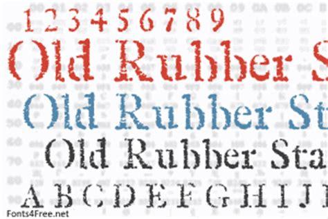 free font rubber st rubber st font fonts4free