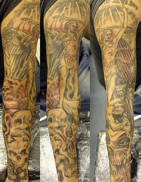heaven and hell sleeve tattoo tattooimages biz
