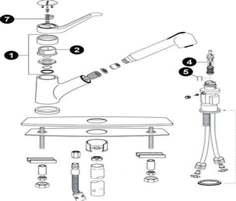 moen kitchen faucet repair diagram kitchen diagram faucet repair moen single handle parts