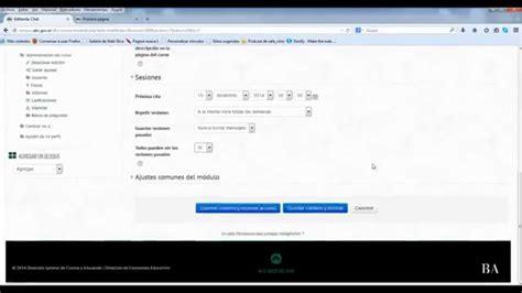 crear sala de chat crear y configurar sala de chat en moodle youtube