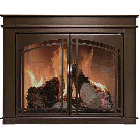 glass fireplace screens with doors pleasant hearth fenwick fireplace glass door bronze for