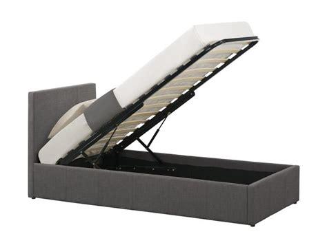 single ottoman storage bed birlea berlin 3ft single fabric ottoman bed frame in grey