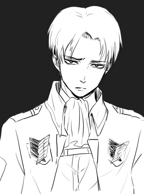 Rivaille by tifl429 on DeviantArt Attack On Titan Levi Salute