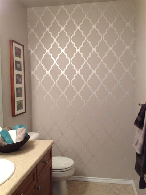 Bathroom Stencil Ideas by Best 25 Bathroom Stencil Ideas On