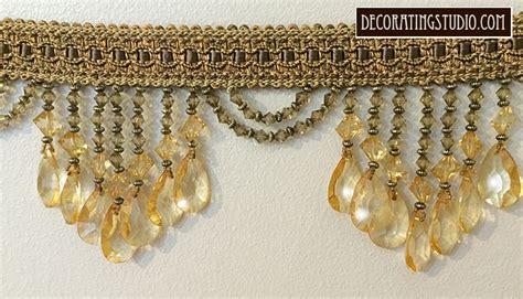 gold beaded fringe trim pale gold venice beaded home decor trim on braid
