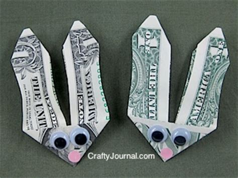 easter money origami easter craft bunny money cafemom