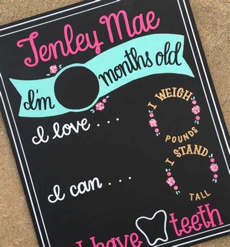 diy chalkboard milestone best 20 monthly baby chalkboard ideas on