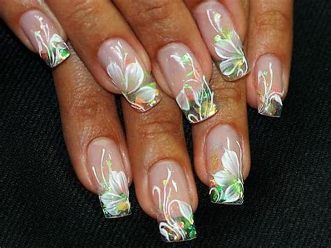 acrylic paint nail water paint flowers for acrylic nails nail design