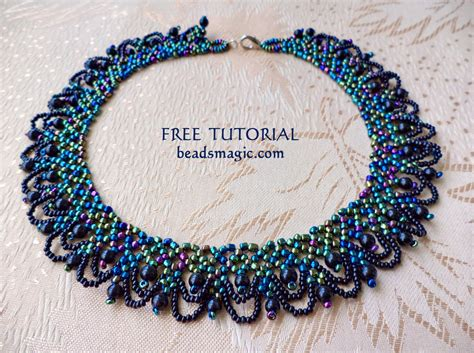 beading tutorials new free pattern for necklace musk magic bloglovin