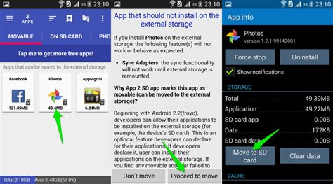 how to make apps to sd card how to move android apps to sd card ubergizmo