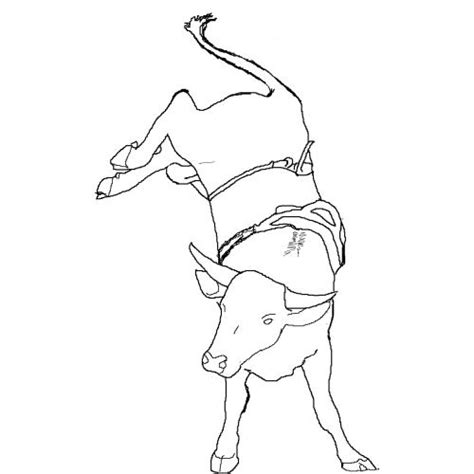 free coloring pages of pbr bull riding