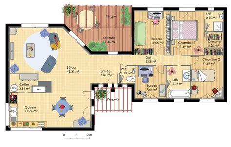plan de maison d architecte plans maisons