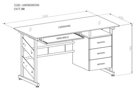 height of a computer desk standard computer desk dimensions