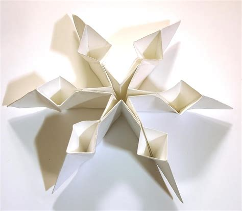 snow origami sci s card snowflakes
