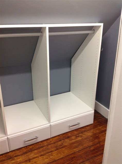 Wardrobes For Small Spaces attic closets auburndale ma 02466 craftsman closet