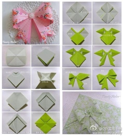 how to make a origami ribbon paper craft a bow tie cards crafts