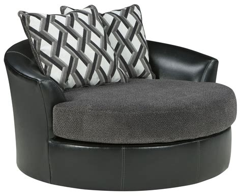 Reviews On Ashley Furniture by Kumasi Smoke Oversized Swivel Accent Chair From Ashley
