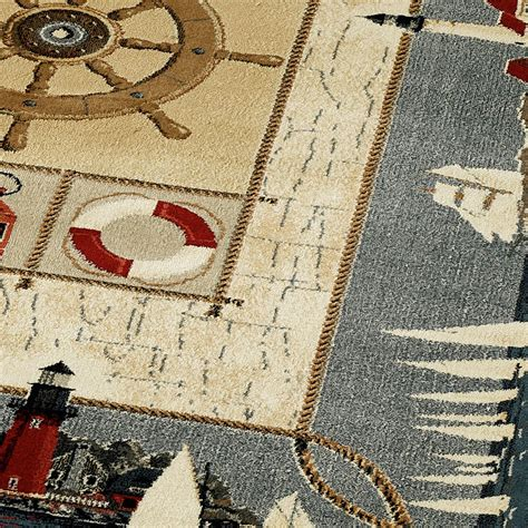 nautical rugs seascape nautical area rugs