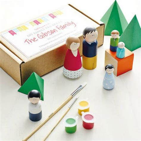 arts and crafts kits for crafts projects features family peg doll