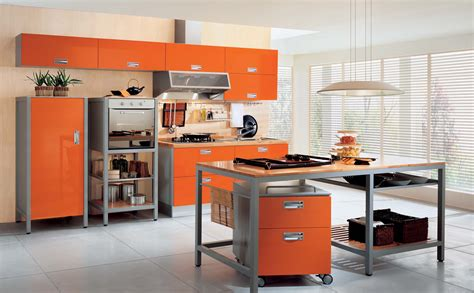 Distressed Orange Furniture by Orange Kitchen Decor Decosee Com