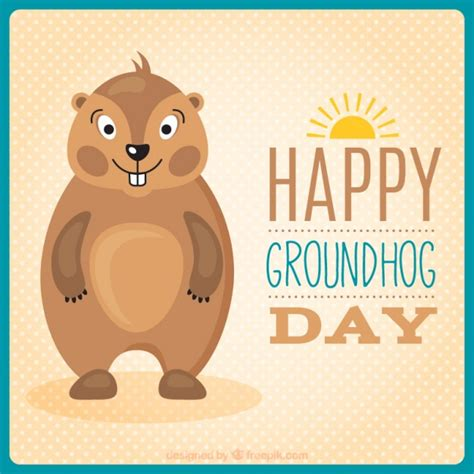 groundhog day free lovely groundhog in groundhog day vector free