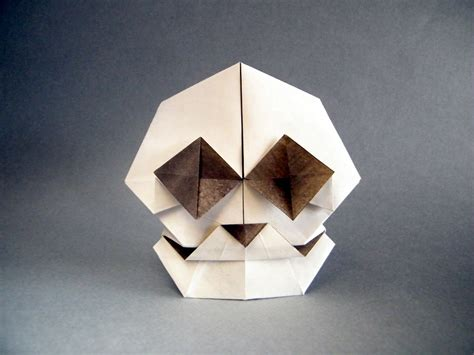skull origami this week in origami 2015 edition