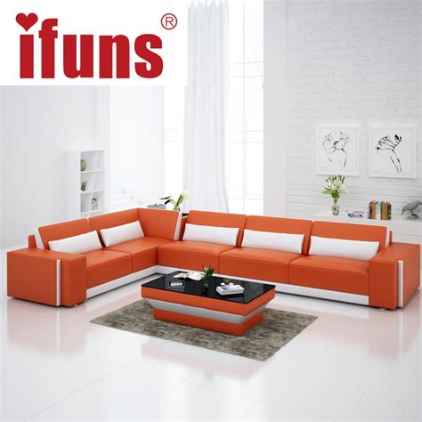 leather sectional living room furniture ifuns home furniture sectional sofa in leather living