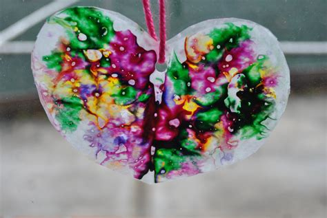 wax paper crafts for s day craft wax paper crayon hearts
