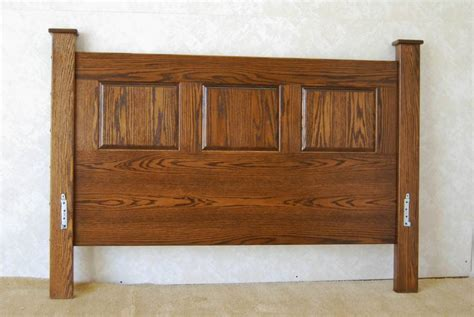 mission style oak headboard de vries woodcrafters