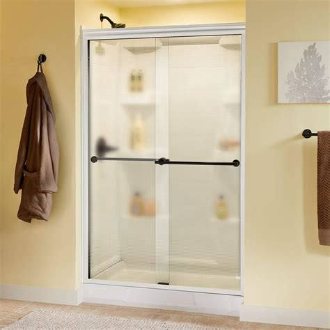 delta phoebe 48 in x 70 in semi frameless sliding shower