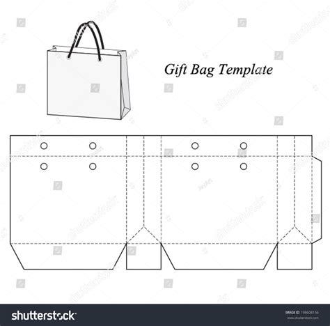 shopping bag template vector illustration stock vector