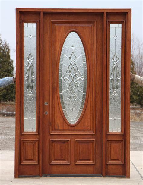 mahogany front door 8 0 quot mahogany front door and sidelights