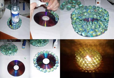 candle craft projects diy marbles candle holder fabdiy