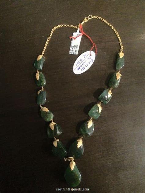 emerald mala gold emerald mala design south india jewels