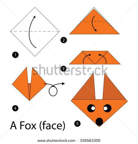 how to make a fox origami craft stock photos images pictures
